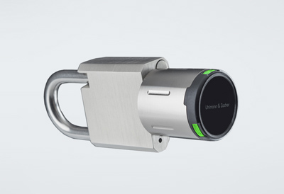 Electronic half knob cylinder